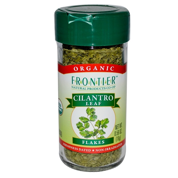 Frontier Natural Products, 有機香菜葉,乾葉片, 0、56 oz (16 g)