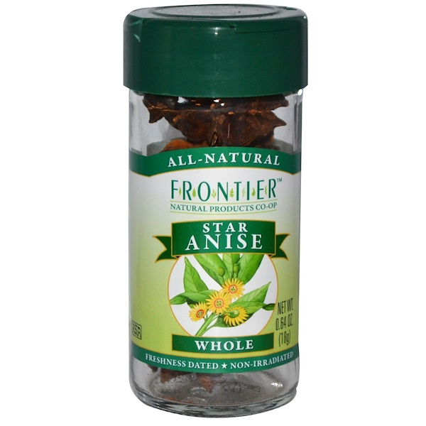 Frontier Natural Products, Star Anise, Whole, 0.64 oz (18 g)