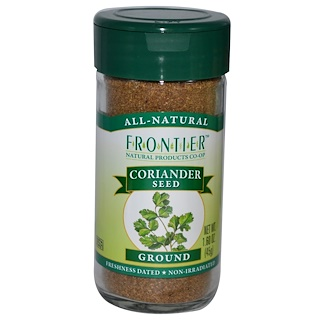 Frontier Natural Products, Coriander Seed, Ground, 1.60 oz (45 g)