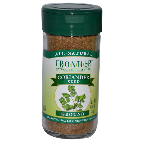 Frontier Natural Products, Семена кориандра, молотые 1.60 унции (45 г)