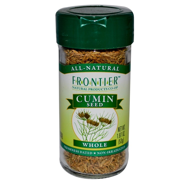 Frontier Natural Products, Cumin Seed, Whole, 1.87 oz (53 g)