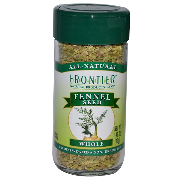 Frontier Natural Products, Семена фенхеля, цельные, 1,41 унции (40 г) (Discontinued Item)