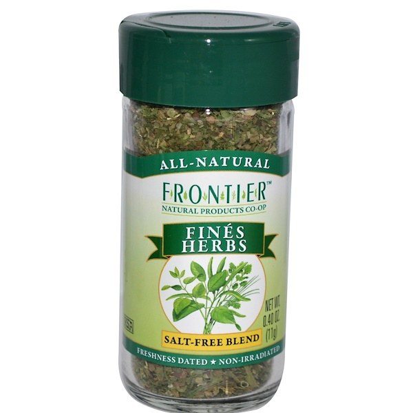 Frontier Natural Products, Fines Herbs, Salt-Free Blend, 0.40 oz (11 g) (Discontinued Item)