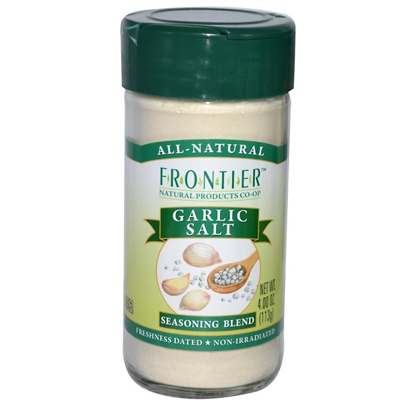 Frontier Natural Products, Garlic Salt, Seasoning Blend, 4 oz (113 g) (Discontinued Item)