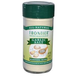 Фронтьер Нэчурал Продактс, Garlic Salt, Seasoning Blend, 4 oz (113 g) отзывы