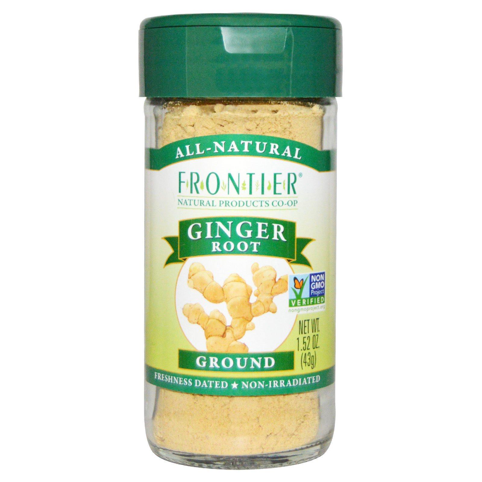Frontier Natural Products, Корень имбиря молотый, 1,52 унции (43 г)