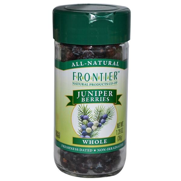 Frontier Natural Products, Цельные ягоды можжевельника 1.28 унции (36 g) (Discontinued Item)