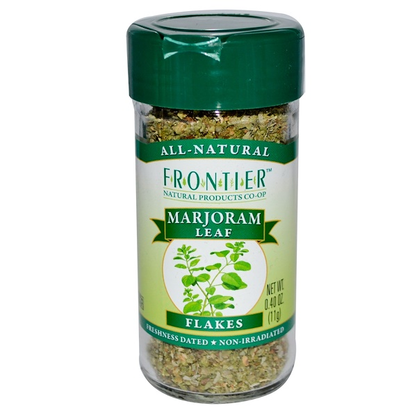 Frontier Natural Products, Marjoram Leaf, Flakes, 0.40 oz (11 g) (Discontinued Item)
