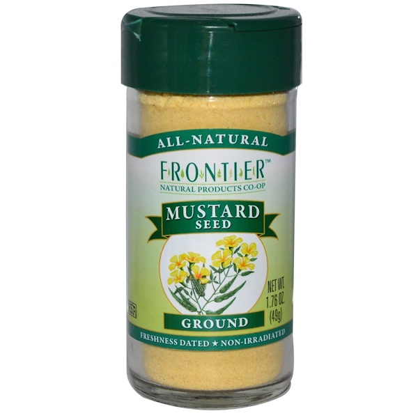 Frontier Natural Products, Mustard Seed, Ground, 1.76 oz (49 g) (Discontinued Item)