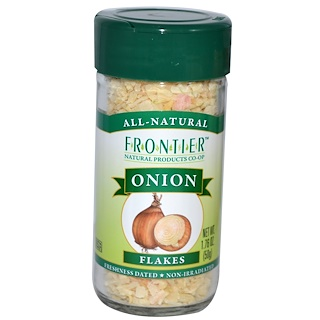 Frontier Natural Products, Cebolla en hojuelas, 1.76 oz (50 g)