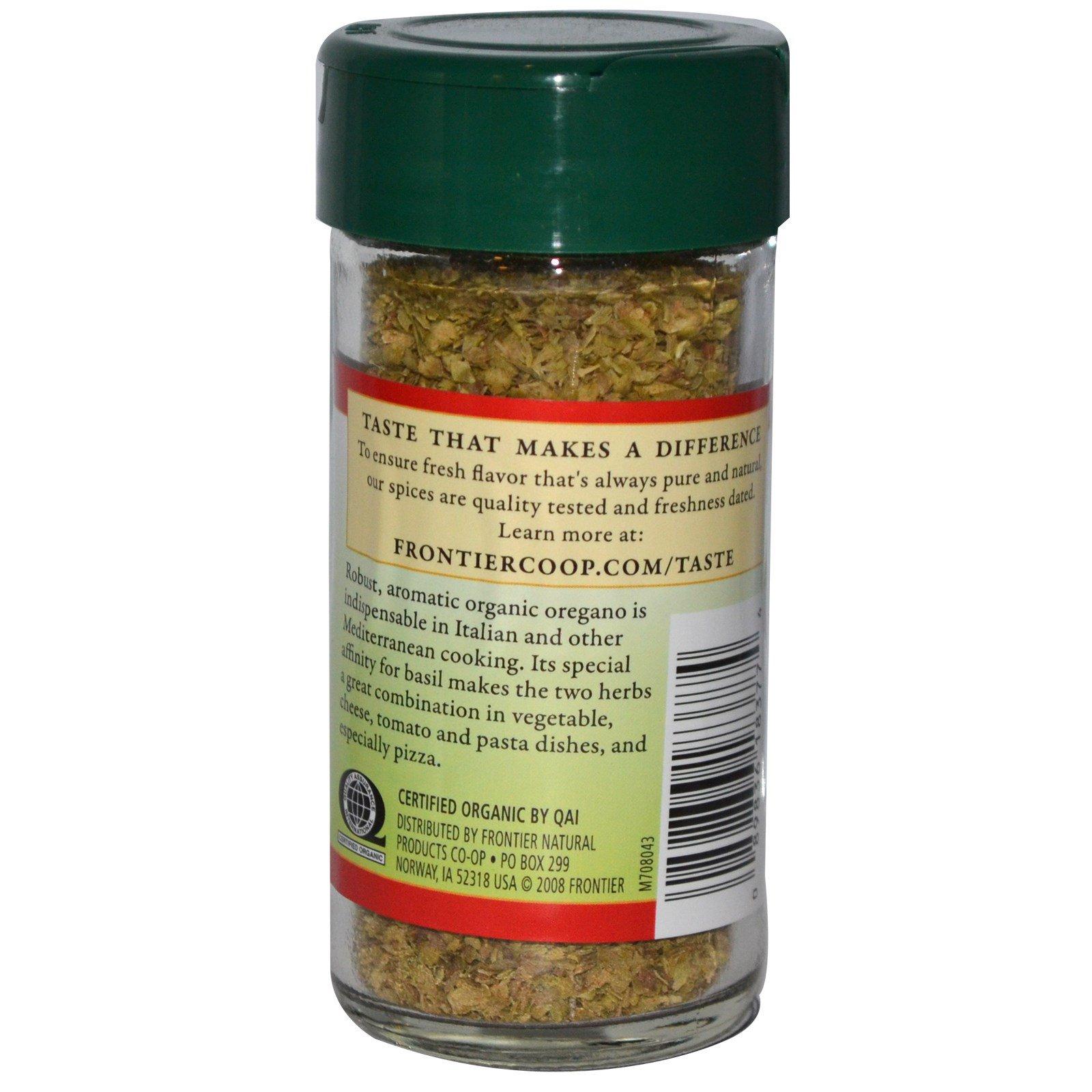 Frontier Natural Products, Органические сушеные листья орегано, 0,36 унции (10 г)