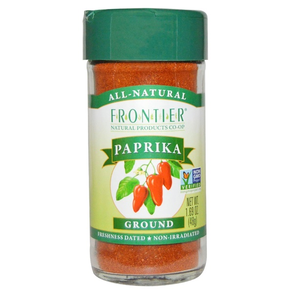 Frontier Natural Products, Паприка молотая, 1,69 унции (48 г) (Discontinued Item)