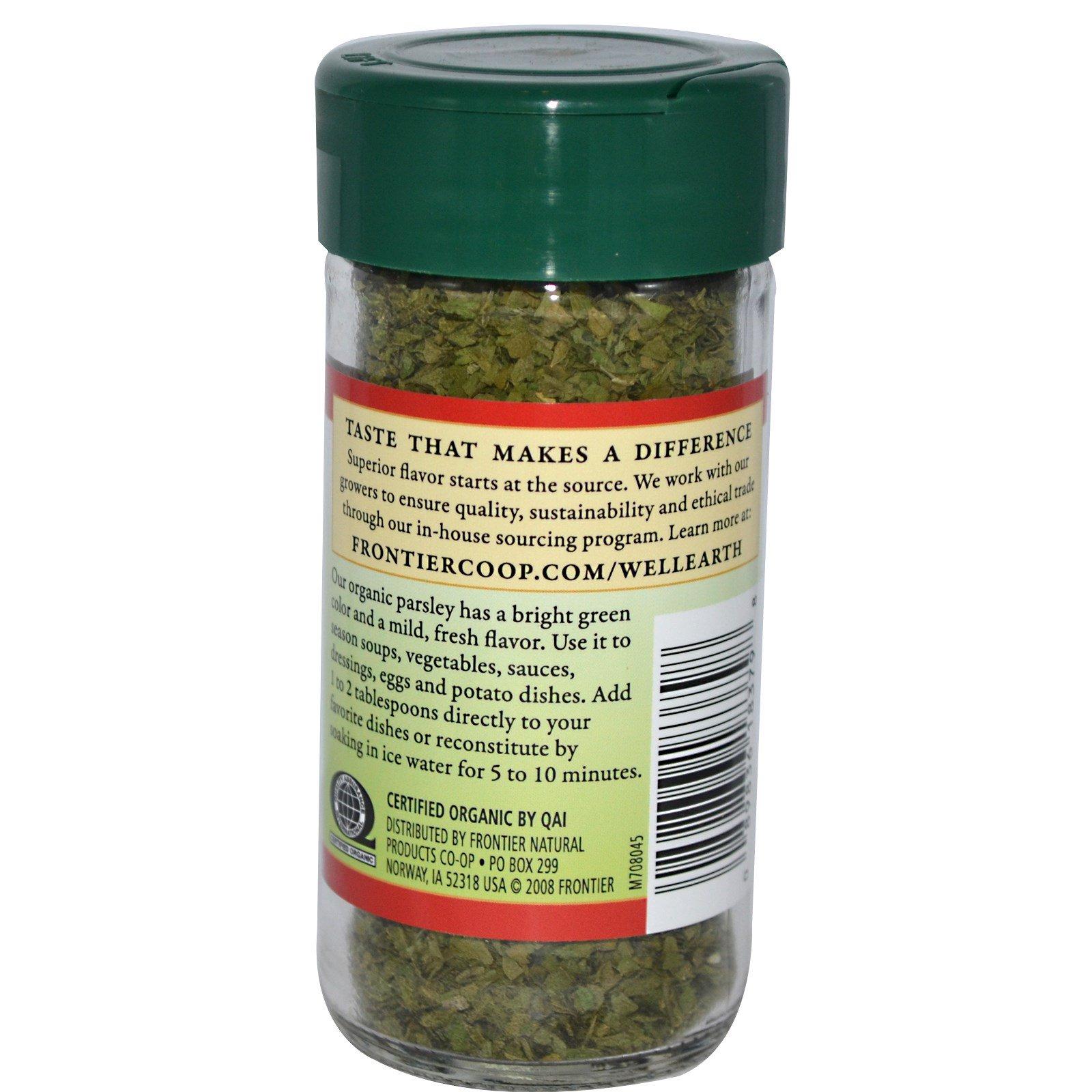 Frontier Natural Products, Органическая петрушка сушеная 0,24 унции (6 г)