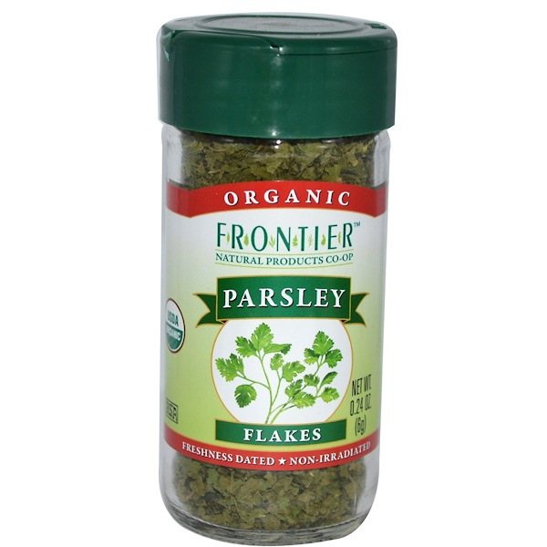 Frontier Natural Products, Organic Parsley Flakes, 0.24 oz (6 g)