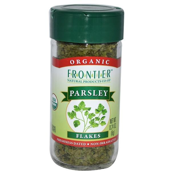 Frontier Natural Products, 有機香菜碎片,0、24盎司(6克)
