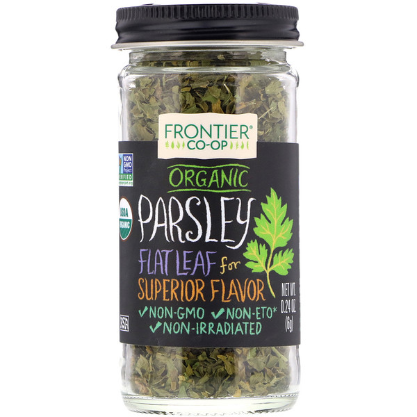 Frontier Natural Products, Organic Parsley , 0.24 oz (6 g) (Discontinued Item)