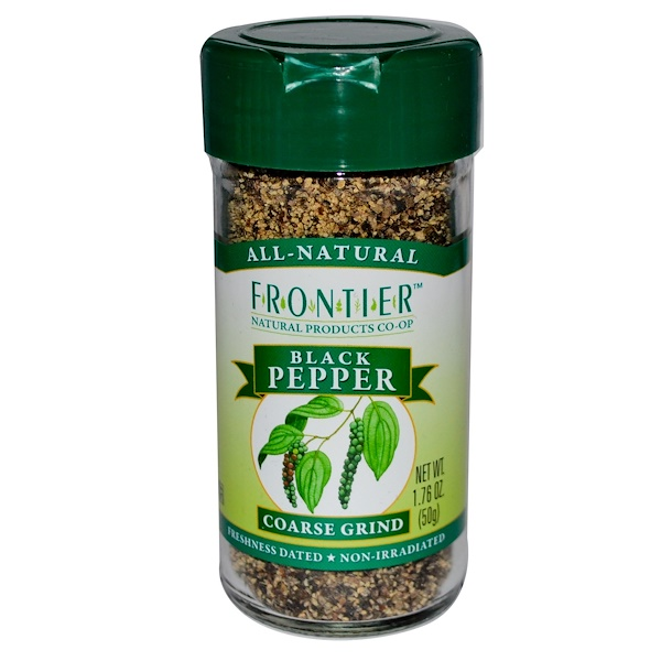 Frontier Natural Products, Black Pepper, Coarse Grind, 1.76 oz (50 g) (Discontinued Item)