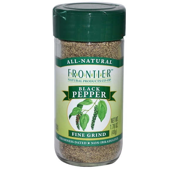 Frontier Natural Products, Black Pepper, Fine Grind, 1.76 oz (49 g) (Discontinued Item)