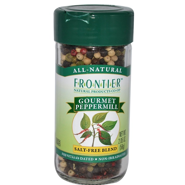 Frontier Natural Products, Gourmet Peppermill, Salt-Free Blend, 2.05 oz (58 g) (Discontinued Item)