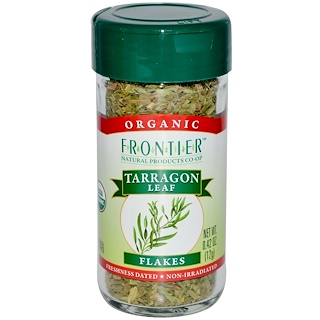 Frontier Natural Products, Organic, Tarragon Leaf Flakes, 0.42 oz (12 g)