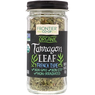 Frontier Natural Products, Organic, Tarragon Leaf, French Type, 0.42 oz (12 g)