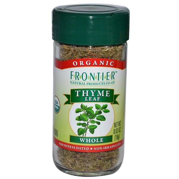 Frontier Natural Products, Organic Thyme Leaf, Whole, 0.63 oz (18 g) (Discontinued Item)