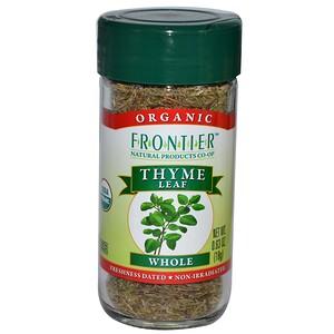 Фронтьер Нэчурал Продактс, Organic Thyme Leaf, Whole, 0.63 oz (18 g) отзывы покупателей