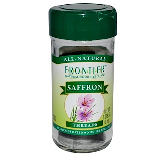 Frontier Natural Products, Saffron, Threads, 0.018 oz (0.5 g)