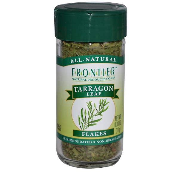 Frontier Natural Products, Tarragon Leaf, Flakes, 0.39 oz (11 g) (Discontinued Item)