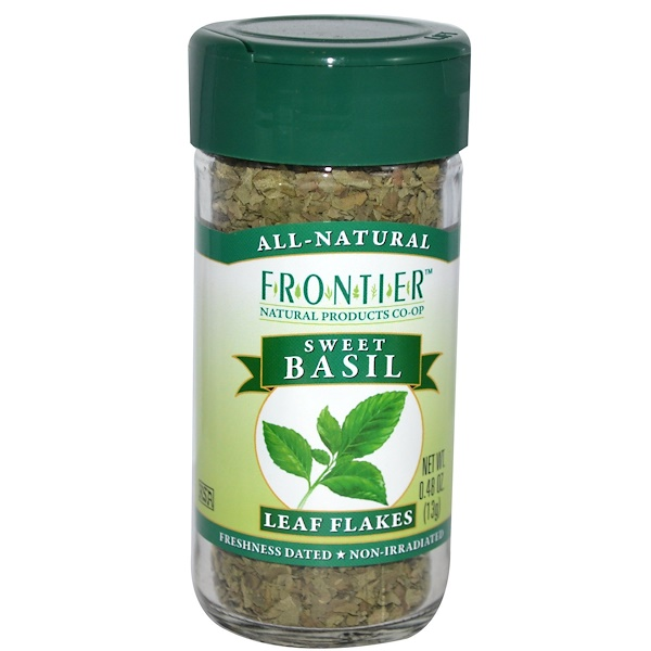 Frontier Natural Products, Базилик сушеный, 0,48 унции (13 г) (Discontinued Item)