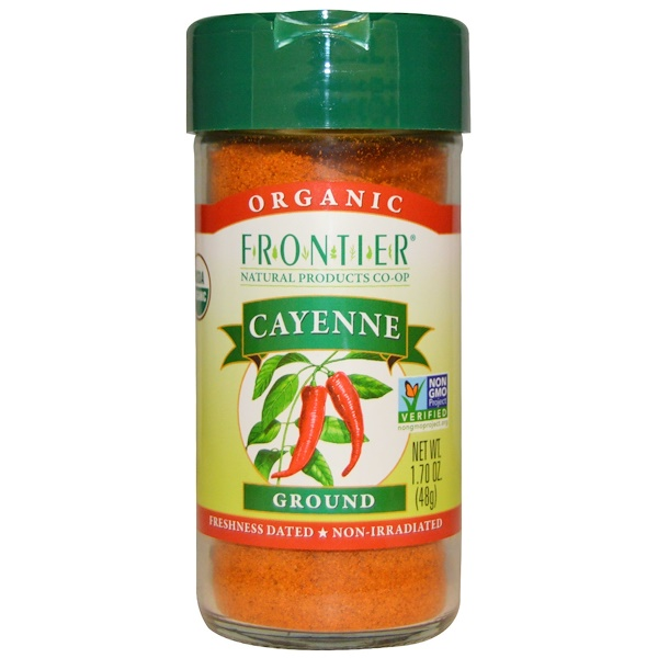 Frontier Natural Products, Organic, Cayenne, Ground, 1.70 oz (48 g)