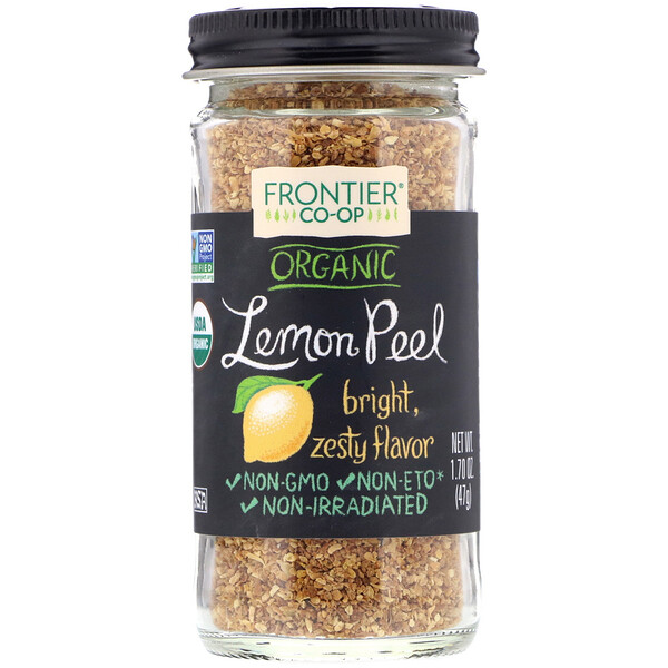 Frontier Natural Products, Organic Lemon Peel, Granules, 1.70 oz (47 g)