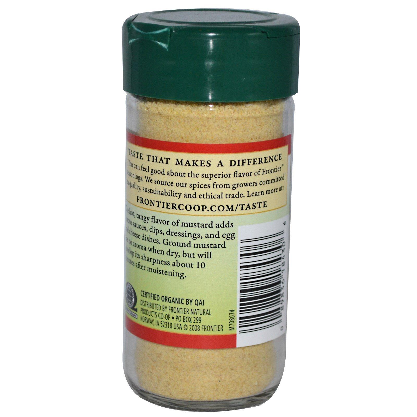 Frontier Natural Products, Органические семена горчицы, молотые 1,80 унции (51 г)