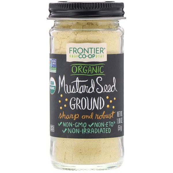 Frontier Natural Products, Organic Mustard Seed, Ground, 1.80 oz (51 g) (Discontinued Item)