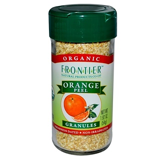 Frontier Natural Products, Organic Orange Peel, Granules, 1.92 oz (54 g)