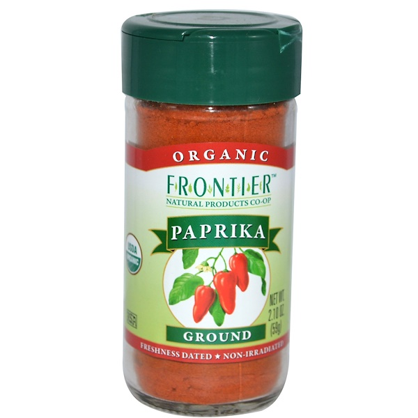 Frontier Natural Products, Organic Paprika, Ground, 2.10 oz (59 g) (Discontinued Item)