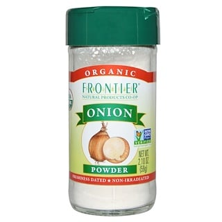 Frontier Natural Products, Polvo Orgánico de Cebollas, 2.10 oz (59 g)
