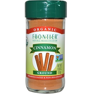 Frontier Natural Products, 유기농 시나몬, 가루, 1.9 oz (53 g)
