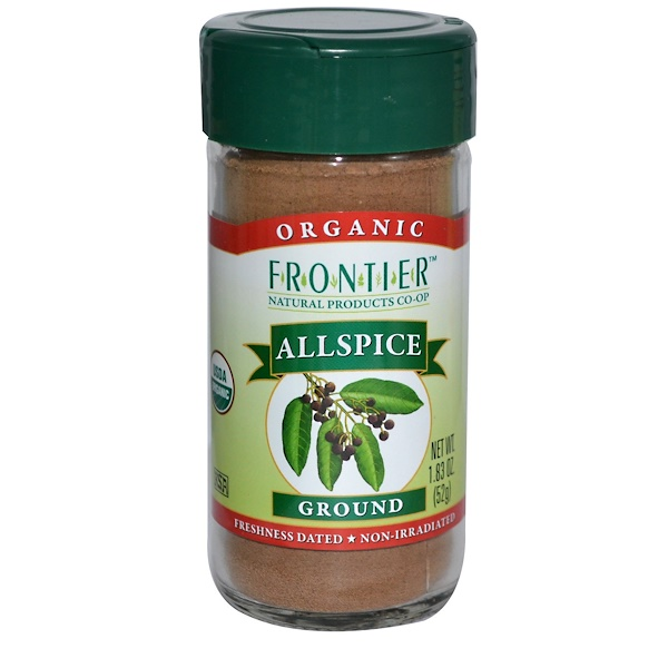 Frontier Natural Products, Organic Allspice, Ground, 1.83 oz (52 g) (Discontinued Item)