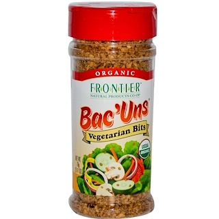 Frontier Natural Products, Organic Bac'Uns, trocitos vegetarianos, 2.47 oz (70 g)