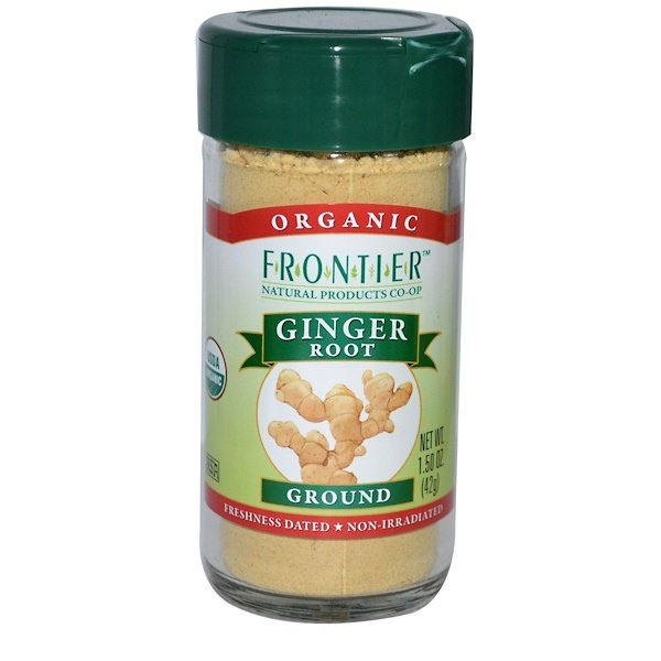 Frontier Natural Products, Organic Ginger Root, Ground, 1.50 oz (42 g)