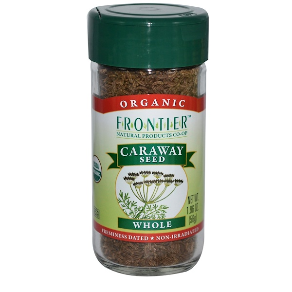 Frontier Natural Products, Organic Caraway Seed, Whole, 1.96 oz (56 g) (Discontinued Item)