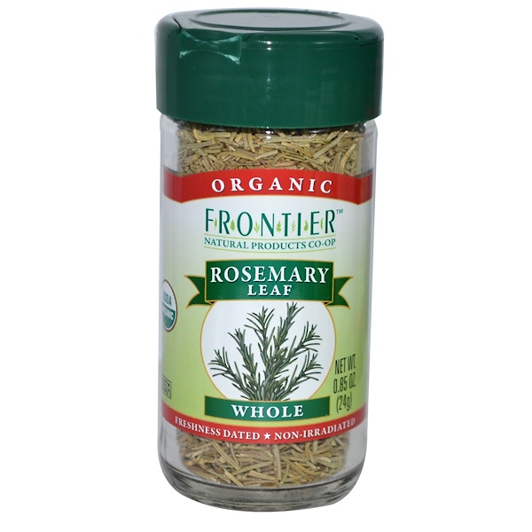 Frontier Natural Products, Organic Rosemary Leaf, Whole, 0.85 oz (24 g) (Discontinued Item)