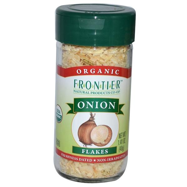Frontier Natural Products, Органические лук, хлопья 1.41 унции (40 г) (Discontinued Item)