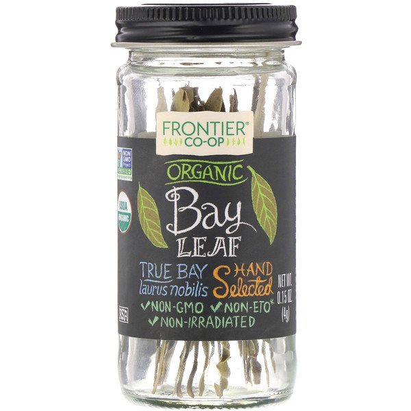 Frontier Natural Products, Organic Bay Leaf, Hand Selected, 0.15 oz (4 g) (Discontinued Item)
