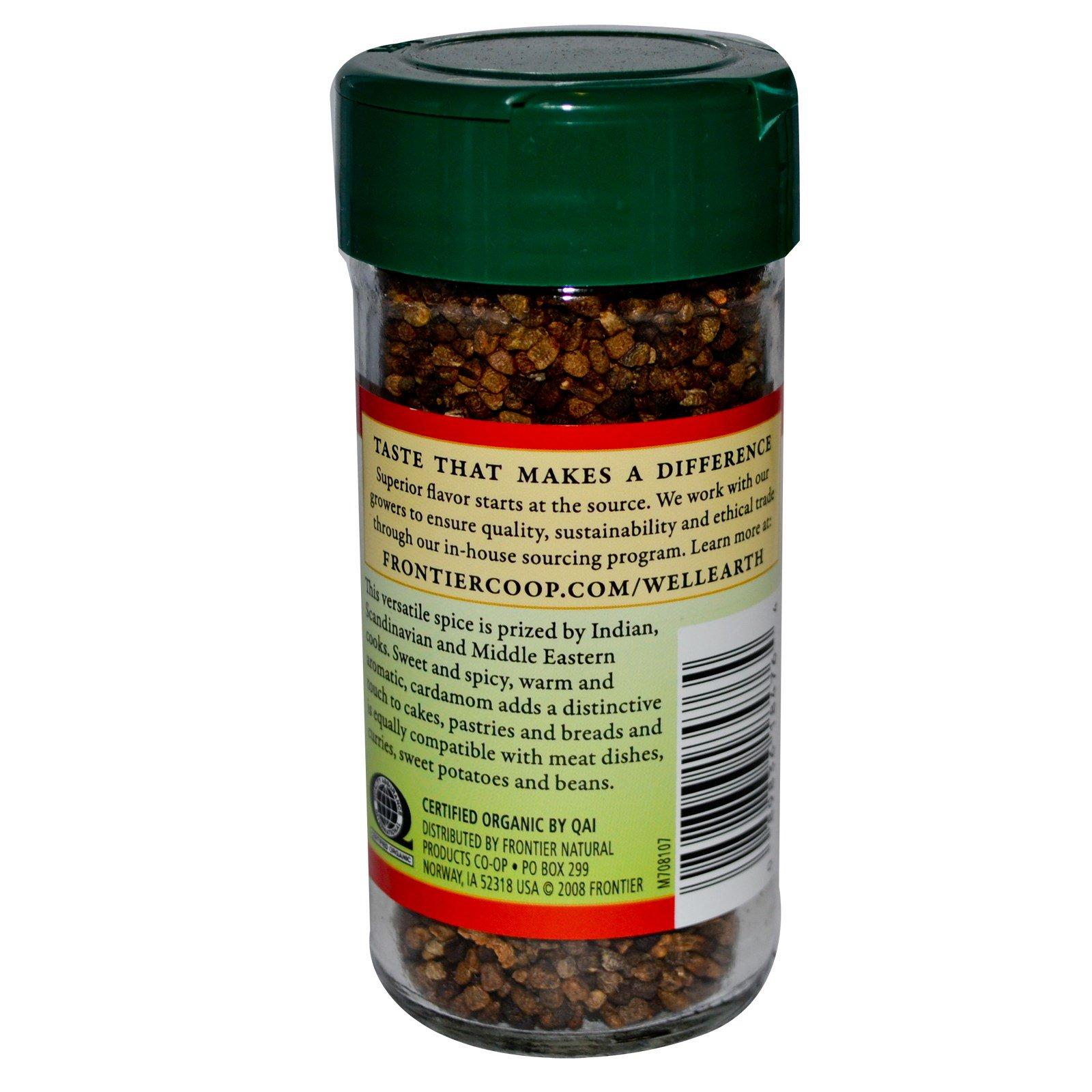 Frontier Natural Products, Органические семена кардамона, цельные, 2,68 унции (76 г)
