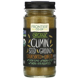 Frontier Natural Products, Organic Cumin Seed, Ground, 1.76 oz (50 g)