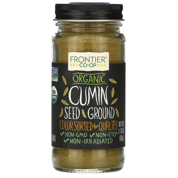 Organic Cumin Seed, Ground, 1.76 oz (50 g)