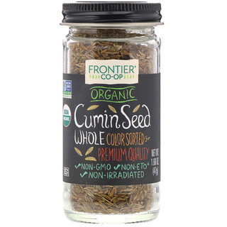 Frontier Natural Products, Organic Cumin Seed, Whole, 1.68 oz (47 g)