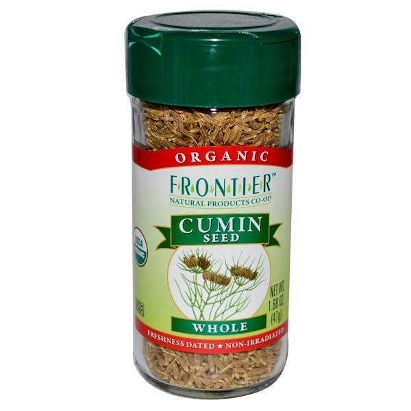 Frontier Natural Products, 유기농 커민 씨, 통, 1.68 oz (47 g)